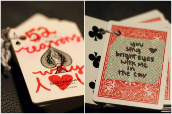 valentine's day deck of cards ideas
