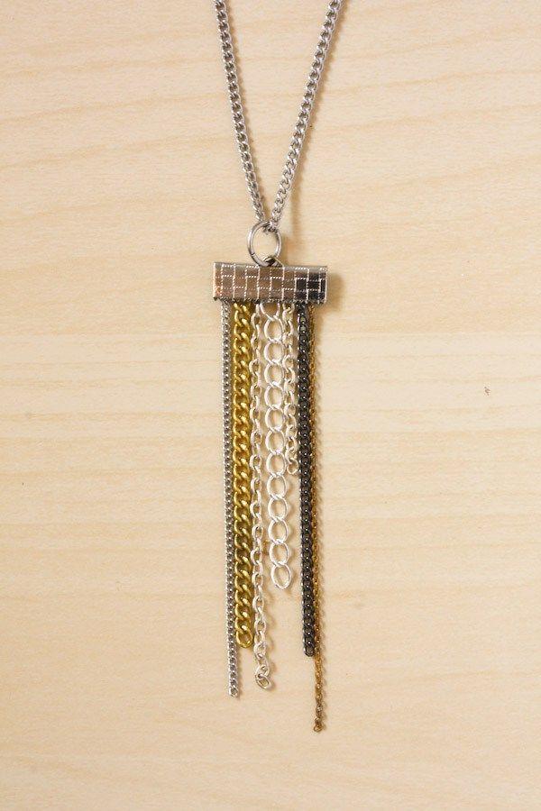 tutos: Collar con flecos de cadena