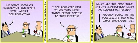 Dilbert on SharePoint Project Management quotes