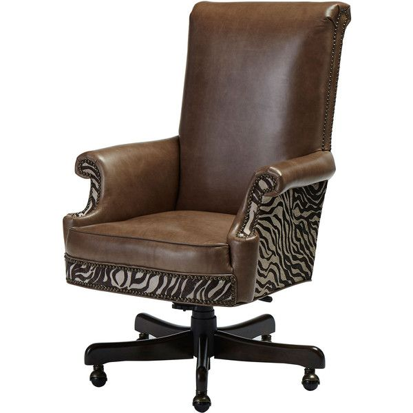 Massoud One-of-a-Kind Blyth Desk Chair ($1,679) ❤ liked on Polyvore featuring home, furniture, chairs, office chairs, brown, massoud furniture, handcrafted furniture, brown desk chair, handmade chairs and brown's furniture