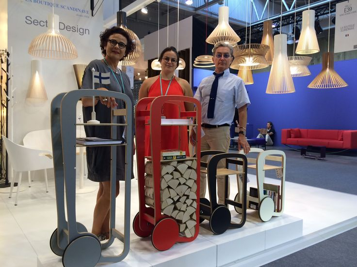 Magali, Margot and Andreas from the La Boutique Scandinave with the Fleimio Trolleys at Maison & Objet Sep 2016.