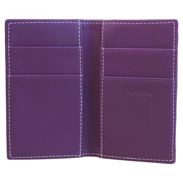 Porte-cartes Hurbane - cuir violet