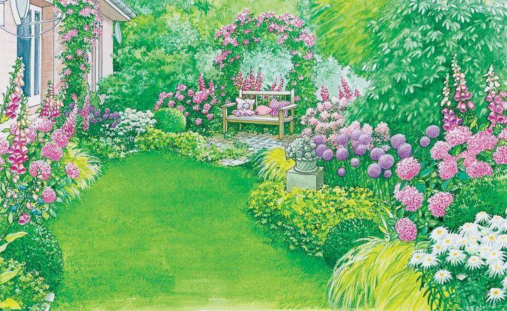 Ein schöner Rahmen für die Terrasse Pflanzplan, Wohlbefinden und - reihenhausgarten vorher nachher