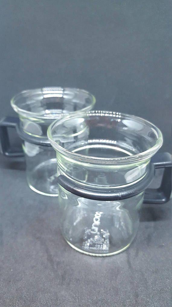 Check out this item in my Etsy shop https://www.etsy.com/ca/listing/557235162/vintage-bodum-glass-espresso-mugs-retro