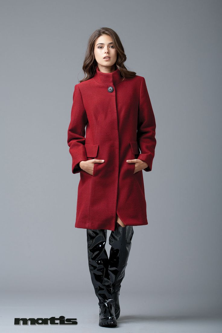 New Year's wardrobe update: A new red coloured coat!
