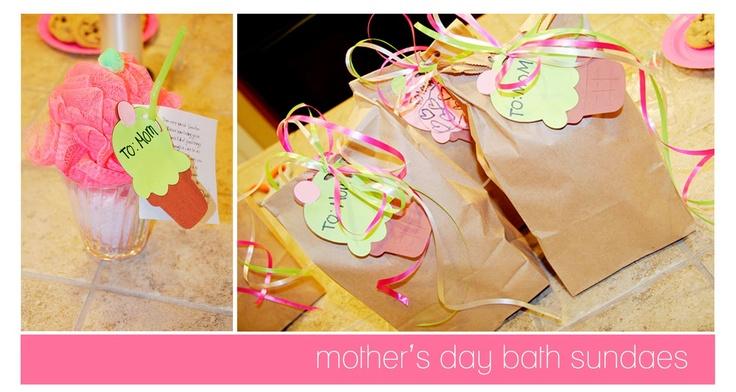 Mother daughter activityMom Gift, Crafts Ideas, Mothers Day, Gift Ideas, Bath Salts, Bath Sundaes, Kids Crafts, Activities Day, Mother Day Gifts