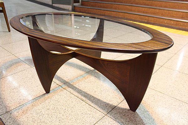 G-PLAN(ジープラン)オーバルグラストップ コーヒーテーブル/ソファーテーブル
