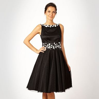 Black mesh flower prom dress - Evening & party dresses.  Get it here: http://bit.ly/PIWpCq