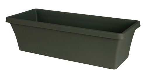 Fiskars 52424 24-Inch Terrabox Planter, Thyme Green by Fiskars. $4.66. Matching terrabox self-centering tray sold separately to collect excess water. Textured finish looks like natural clay. Constructed with high quality color pigments and uv additives, these planter bowls offer all weather durability. Large planting area. Great alternative and lightweight option to clay or ceramic planter trays. Sturdy and lightweight resin planters offers an economical way to decorate th...