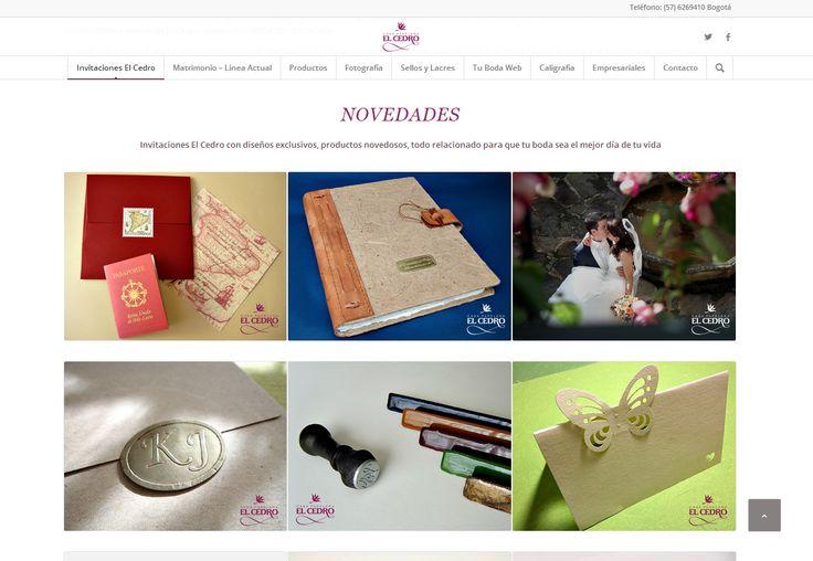 #Web Casa Papelera El Cedro www.invitacioneselcedro.com