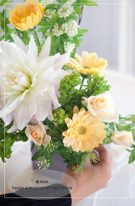 JFLA Fresh Flower Diploma Class.フレッシュフラワー認定資格のレッスン風景です。@華夢フラワーデザインスクール