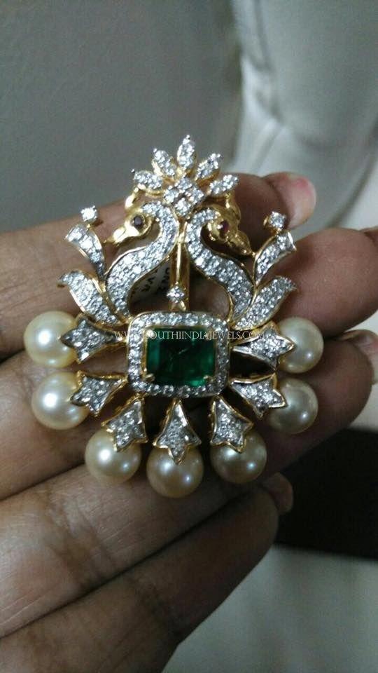 Diamond Peacock Pendant Designs, Diamond Pendants with Peacock, Peacock Diamond Pendants.