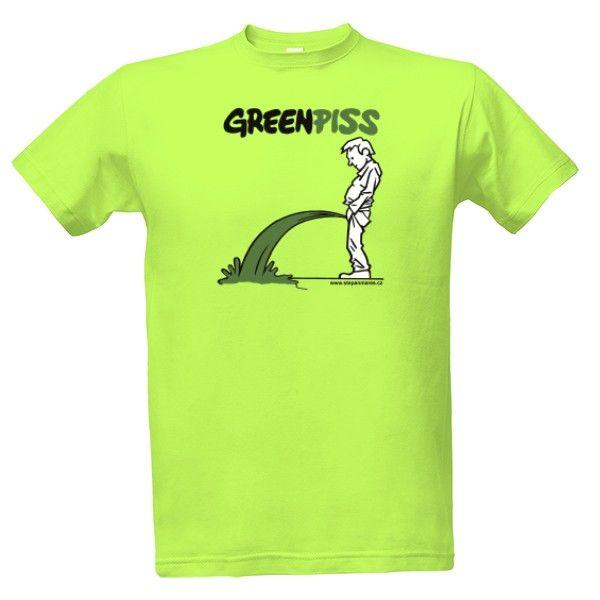 Tričko s potiskem Greenpiss