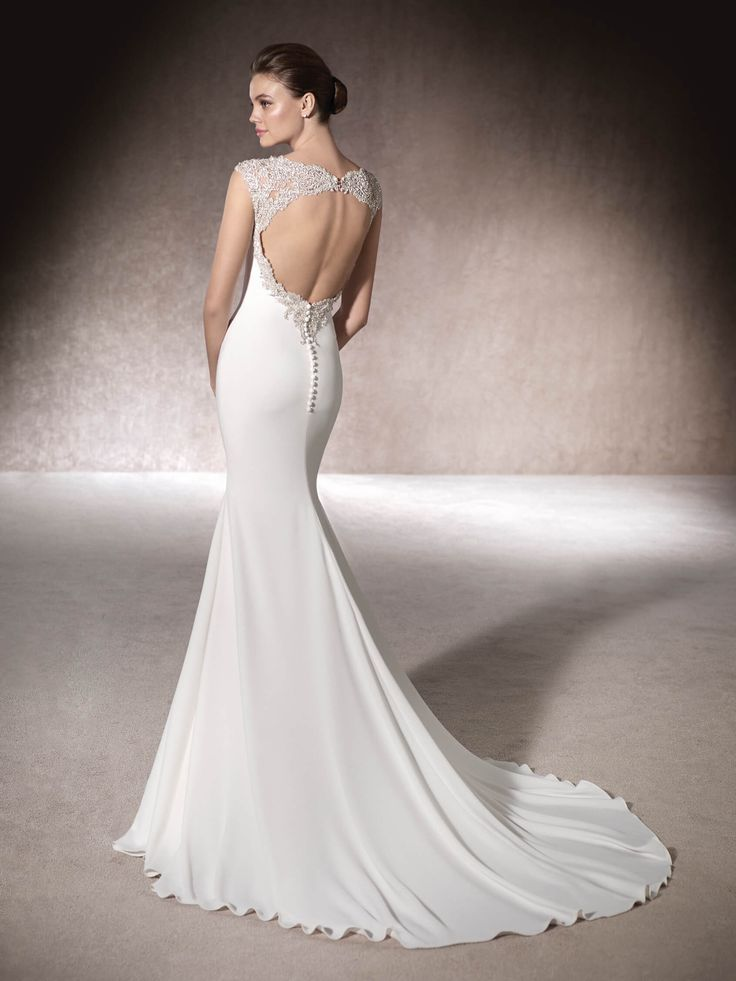 MILAN - showing off her dazzling gemstone back. Perfect for the modern bride