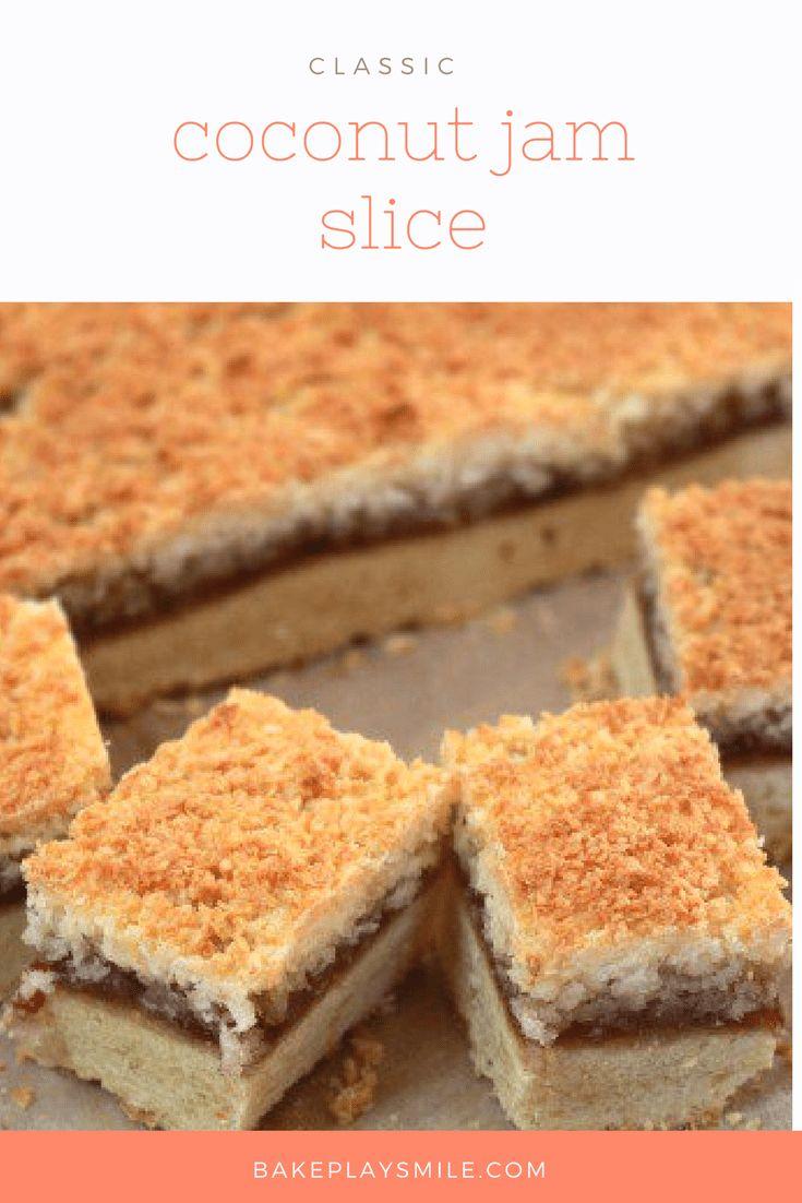 Coconut Jam Slice