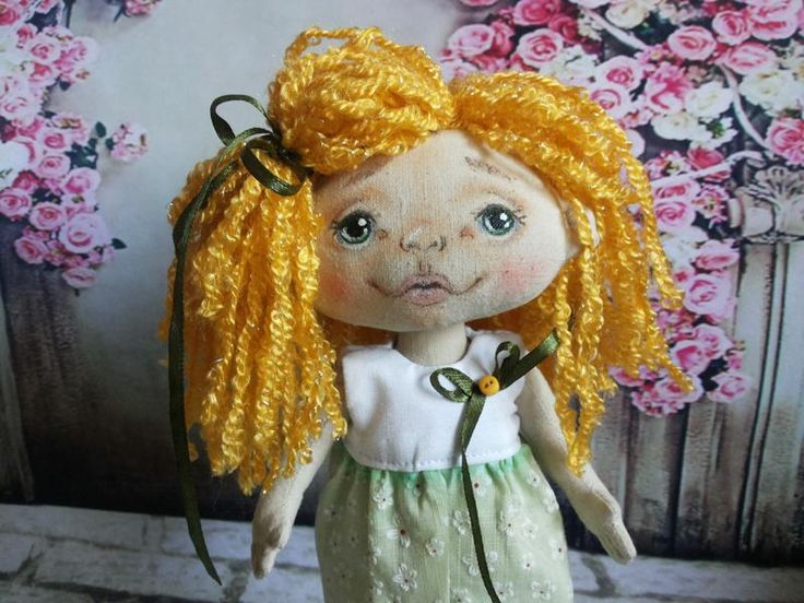 Куколка текстильная Лето. Яркая малышка ручной работы.