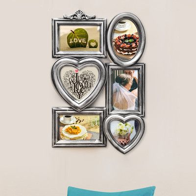 AdecoTrading 6 Opening Plastic Picture Frame Color: Antique Silver