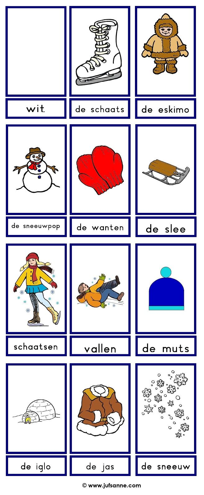 ⛄ Woordkaarten : winter (2)