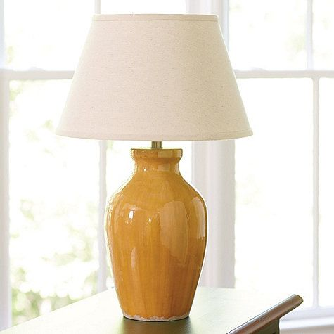 Lovely Pretty Mustard Yellow Table Lamp