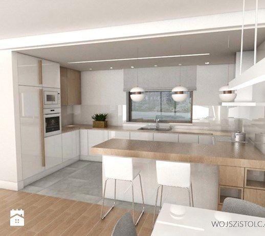 Kuchnia z barkiem - zdjęcie od WOJSZ I STOLC