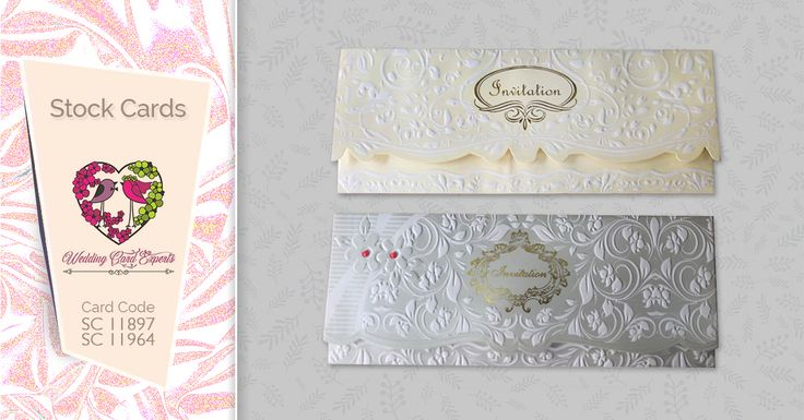 another elegant look of traditional wedding card
