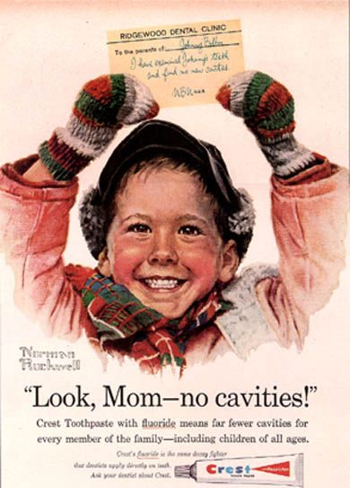 Crest toothpaste ad - illustrated by Norman Rockwell