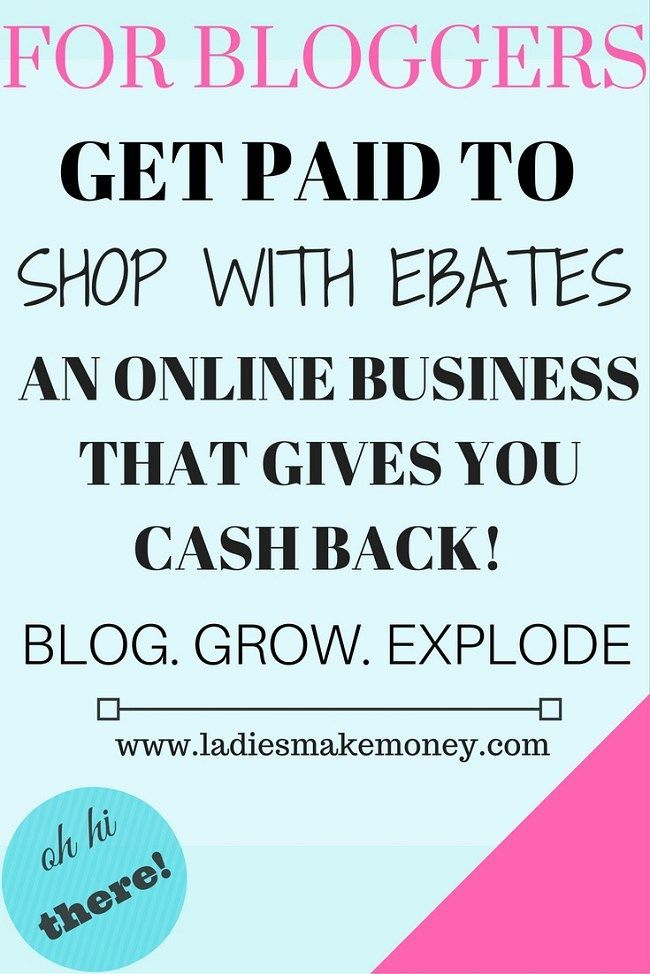 Earn Money From Home Get Paid to shop with Ebates- Why you should be using Ebates You may have signed up to take paid surveys in the past and didn't make any money because you didn't know the correct way to get started!