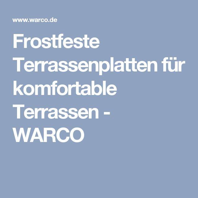 Frostfeste Terrassenplatten für komfortable Terrassen - WARCO