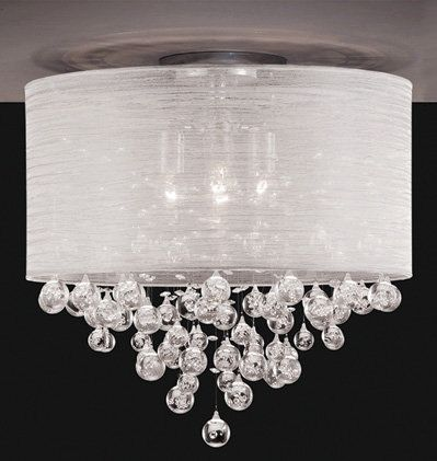 "20"" SHADE FLUSH MOUNT WITH HANGING :: FLUSH & SEMI-FLUSH FIXTURES :: Ceiling lights Toronto, Bath and vanity lighting, Chandelier lighting, Outdoor lighting and kitchen lights :: Union"