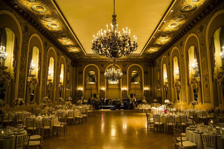 Classic elegant ballroom wedding reception at Hotel DuPont  | Wilmington, Delaware wedding venues (Michael Chadwick Photography)