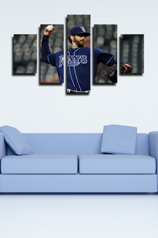 Tampa Bay Rays Pruman Pitcher Austin Pruitt In 2020 Canvas Art Wall Decor Wall Art Painting Home Art