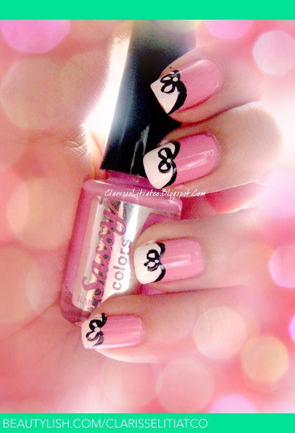 Bow  #nail #nails #nailart