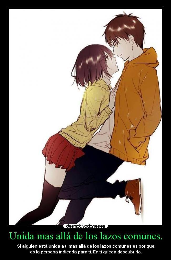 carteles amor anime love romance erenxmikasa shingekinokyojin lazos union masaya desmotivaciones