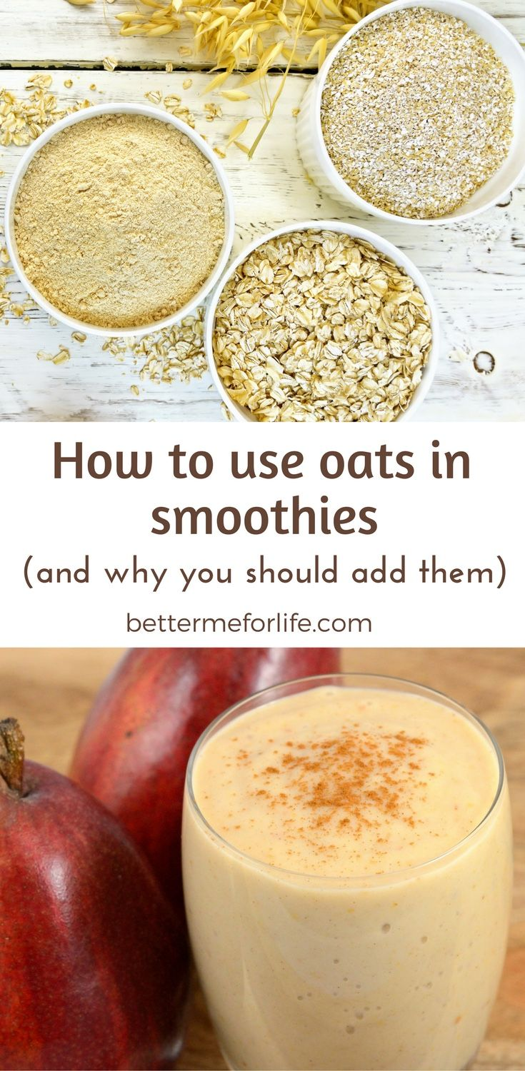 Are you looking for a more satisfying smoothie that will make you feel full for a long time? Adding oats in smoothies will keep you satisfied for longer. Learn more on BetterMeforLife.com