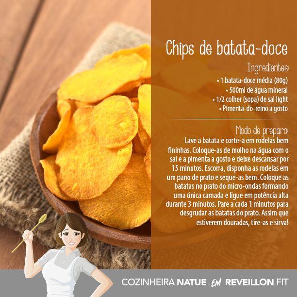 Chips de batata doce - LIMA INFINITY - COZINHA NATUE