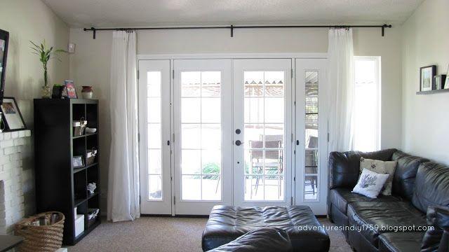 Ikea Hardware French Doors Window Treatment | Drapes
