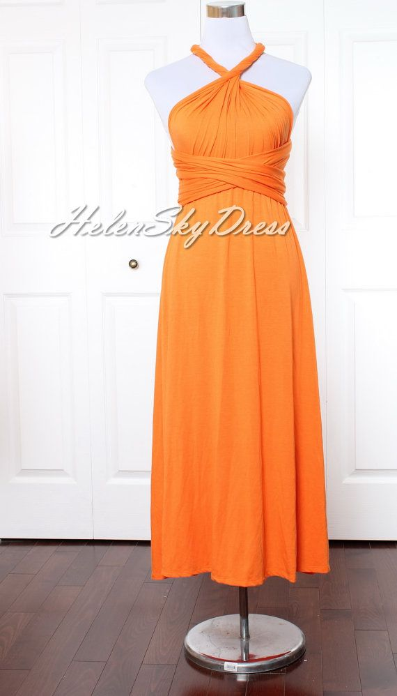 Orange de demoiselle d'honneur robe Orange par HelenSkyDress