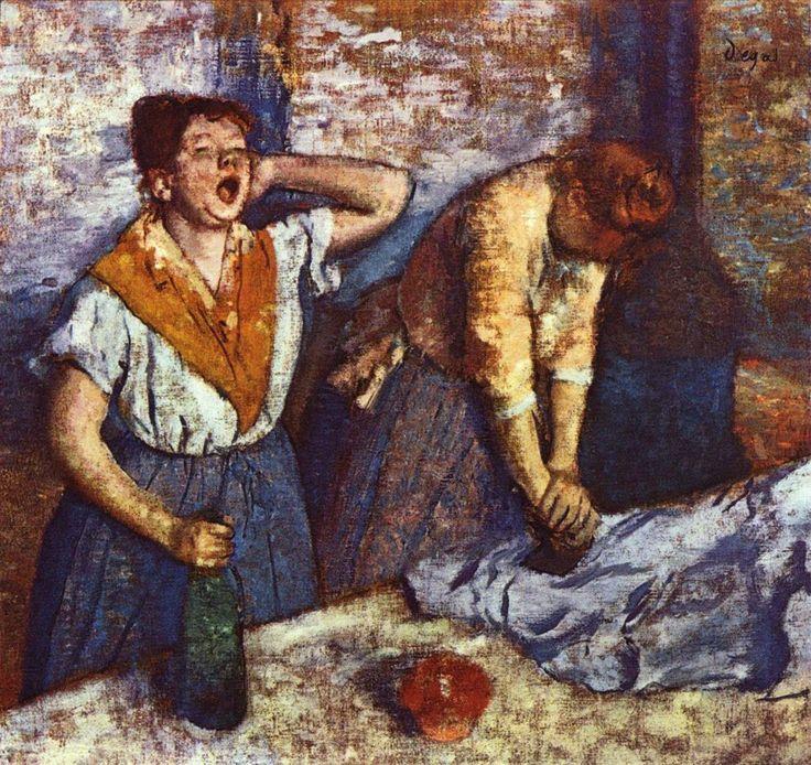 Edgar Degas, Le stiratrici (titolo originale: Les repasseuses), olio su tela, 76x81,5, 1884, Museo d'Orsay di Parigi.