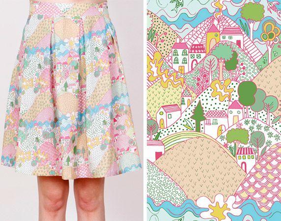 La Casita de Wendy -- amazing! skirt! love love love the colors and pattern.