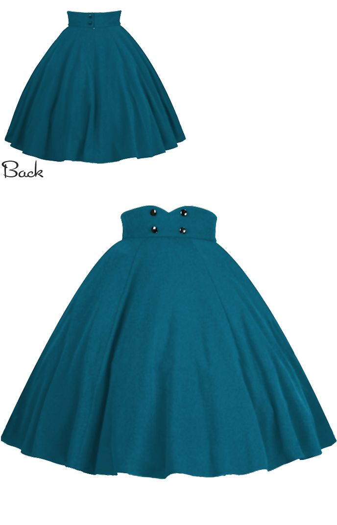 Blue Turquoise Rockabilly Swing Skirt by Amber Middaugh #Retro #Vintage #Rockabilly