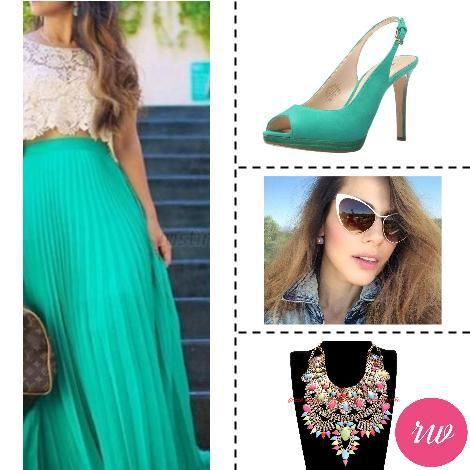 Cute Weekend Outfits - Bright Green. www.rosyweekend.com