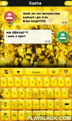 Gold Sparks For GO Keyboard Android App - playslack.com , Get rid of your  old plain keyboard and transform it into the awesome one that you always  wanted.