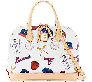 Dooney & Bourke MLB Braves Zip Zip Satchel