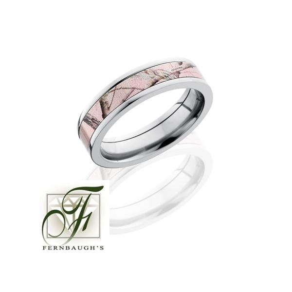 pink camo ring wedding bridal rings