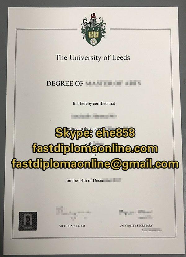University Of Leeds Degree Certificate University Of Leeds Master