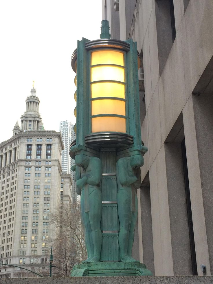 Streetlight outside NYC Dept. of Health building