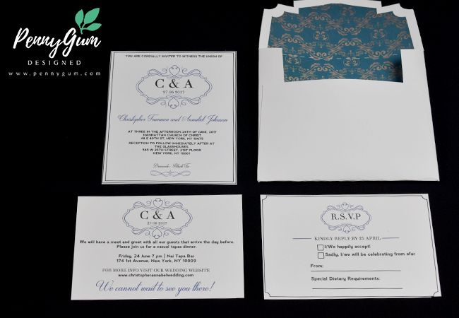Regal Rosie - DIY wedding stationery set in a regal, formal, traditional design. Instant Download, edit your own wording and print on your home printer of at a professional printer.
