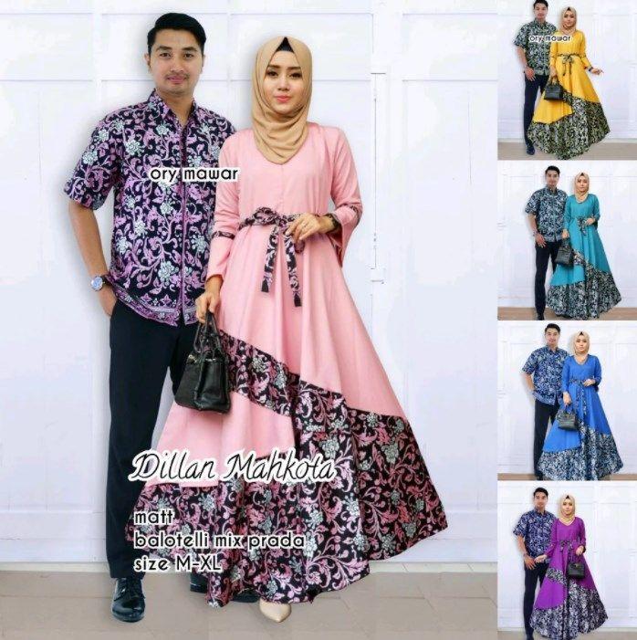 Trend Model Baju Batik Couple Sarimbit Anak Muda 2018 Dilan Mahkota
