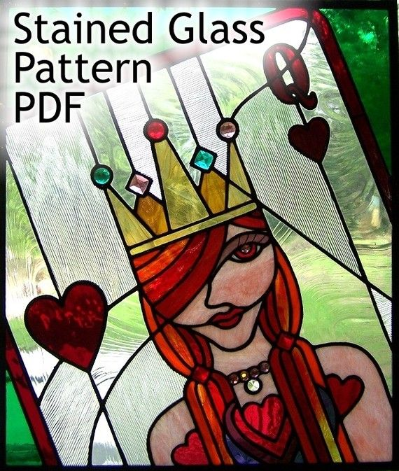 PATTERN for Queen of Hearts Stained Glass by TaraSawchuk on Etsy, $4.00
