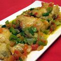 Top Spanish Bacalao Main Course Recipes: Spanish Salt Cod with Peppers & Onions Recipe - Bacalao con Pimientos y Cebolla